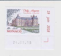 Monaco Mi 3402 Palaces - Visit Of Prince Albert To Chilly-Mazarin * * 2018 - Ongebruikt