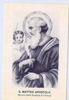 Santino - S.matteo Apostolo - Patrono Della Guardia Di Finanza - E1 - Santini