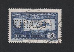 Faux Timbre France Poste Aérienne N° 6c Eipa 30 Perforé Oblitéré - 1927-1959 Oblitérés