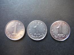 3x 1 Centime Epi 1962 - 1967 - 1970 - Francia