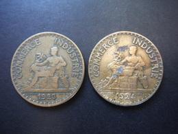 2x 2 Francs Chambres De Commerce 1923 - 1924 - Francia