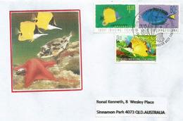 Poissons Et Faune Marine Des îles Cocos-Keeling (Océan Indien)., Sur Lettre Adressée En Australie - Cocos (Keeling) Islands
