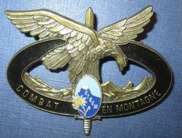 C.I.E.C.M, Brevet Combat En Montagne, Bronze, épingle - Armée De Terre
