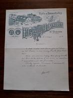 L12/91 Lettre Ancienne. St Dizier. H.Caxieu ; A. Beaudet. Vins Et Spiritueux. 1923 - France