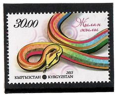 Kyrgyzstan. 2013 Year Of Snake. 1v: 30.oo  Michel # 732 - Kirghizistan