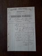 L12/92 Ancienne Facture. Maiche. Boucherie. Hotel Granville. Chopard Freres. 1889 - 1800 – 1899