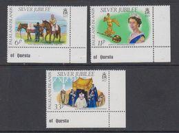 Falkland Islands 1977 Silver Jubilee 3v (corners) ** Mnh (42240A) - Falklandeilanden