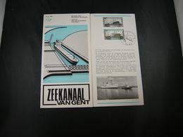 """BELG.1968 1479 FDC/Folder (Gent) NL  : """" Zeekanaal Van Gent / Canal Maritime De Gand  """" - 1961-70"""