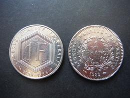 2x 1 Franc De Gaulle 1988 - Marianne République 1992 - France