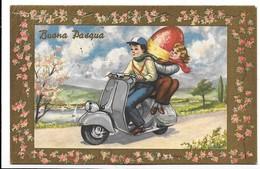 Buona Pasqua - Vespa Piaggio Faro Basso. - Pasen