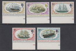 Falkland Islands 1970 SS Great Britain 5v (margin)  ** Mnh (42241B) - Falklandeilanden