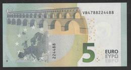 € 5 SPAIN  VB V010 FINE NUMBER  DRAGHI  UNC - 5 Euro