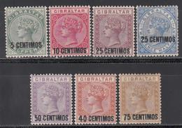 1889  YVERT Nº 15 / 21  /*/ - Gibraltar