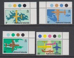 Falkland Islands 1979 Opening Stanley Airport 4v (corners) ** Mnh (42242B) - Falklandeilanden