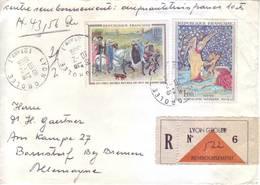 Francia - Storia Postale, Raccomandata E Assicurata. Affrancata E Viaggiata - Storia Postale