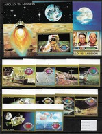#A23# UM AL QIWAIN MICHEL 583/572B+ BL 41/42 MNH**. SPACE. - Umm Al-Qiwain