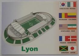 LYON (69) - Stade / Football - Carte Postale émise Pour Coupe Du Monde France 98 - Football