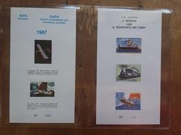 ITALIA - Repubblica - Avis Di Gozzano - 2 Foglietti Ricordo Nuovi 1987/88 + Spese Postali - Erinnofilia