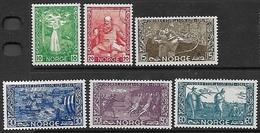 Norway   1941   Sc#240-5  Set Of 6  MNH  2016 Scott Value $20 - Noruega