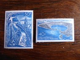 TAAF Terres Australes Et Antarctique Française  N° 17 Et 18 Neufs Sans Charnière MNH Cote 127 € - Poste Aérienne