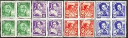 Schweiz Suisse Pro Juventute 1936: Trachten & H.G.Nägeli  Zu 77-80 Mi 306-309 Yv 298-301 Blocks ** MNH  (Zu CHF 64.00) - Pro Juventute