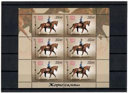 Kyrgyzstan.2013 National Horse Games.  Sheetlet Of 6 Stamps  Michel # 741   KB - Kirghizistan