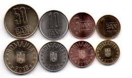 Romania - Set 4 Coins 1 5 10 50 Bani 2018 UNC / AUNC Lemberg-Zp - Roumanie