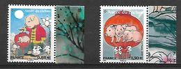France 2019 - Yv N° 5296 & 5298 ** - Nouvel An Chinois - Année Du Cochon  (petits Timbres) - France