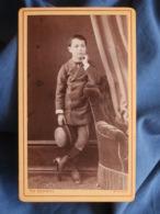 CDV Photo Th. Schahl à Dijon - Jeune Adolescent, Charles Chamagne, Vers 1875 L436A - Anciennes (Av. 1900)
