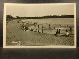 Vintage 1923 PANAMA REAL PHOTO PC - Bella Vista BEACH SCENE With Bathers In Period Swimsuits - Panama