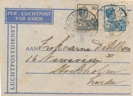 Nederlands Indië - 1934 - 30 & 15 Cent Wilhelmina Op LP-cover Van LB PANGKATAN Naar Stockholm / Sverige - Nederlands-Indië
