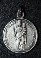 """Pendentif Médaille Religieuse """"Notre-Dame De Lez"""" Mur-de-Barrez - Religious Medal - Religion & Esotérisme"""