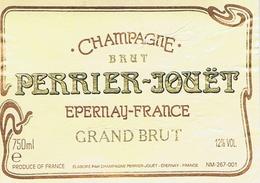 Etiquette Champagne PERRIER-JOUET Grand Brut - Champagne