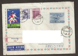 Romania Roumanie Rumanien 1974 World Cup Football Calcio Soccer Voetbal Fußball Munchen Munich Cover To Pakistan SG 4084 - 1948-.... Républiques