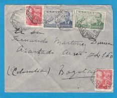 LETTRE DE MADRID POUR BOGOTA,COLOMBIE.CACHET DE CENSURE AU VERSO. - 1931-Heute: 2. Rep. - ... Juan Carlos I