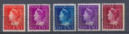 Nederland/Netherlands/Pays Bas/Niederlande/Paesi Bassi 1947 Mi: DM20-24 Yt: TS19-23 Nvph: D20-27 (Gebr/used/obl/o)(4319) - Dienstzegels
