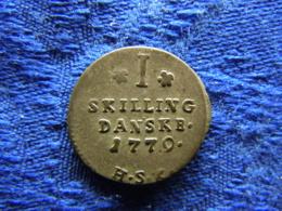 DENMARK 1/2 SKILLING 1779 HSK, KM636 - Danemark