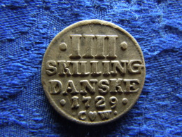DENMARK 4 SKILLING 1729, KM526 VF - Danemark