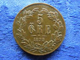 SWEDEN 5 ORE 1872, KM707 Scratched - Suède