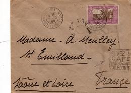 NOUMEA Pour SAINT EMILAND ( Saône Et Loire )  Timbre N° 146    -  Daguin BUVEZ LE CAFE DE LA NOUVELLE CALADONIE - Nouvelle-Calédonie