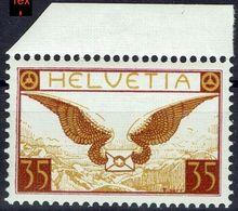 Schweiz Suisse 1933: Flugbrief  Zu F 14z Mi 233z- Yv PA8a (geriffelt-grillé) ** Postfrisch MNH (Zu CHF 19.00) - Poste Aérienne