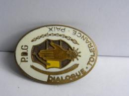 GABON Badge PDG (Parti Démocratique De Congo) Dialogue Tolérance Et Paix - Fraisse Paris - Autres