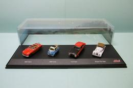 Schuco - Coffret 4 Voitures MGB Cabrio + BMW Isetta + Ford Capri + Morgan Plus Eight 1/72 - Scale 1:72