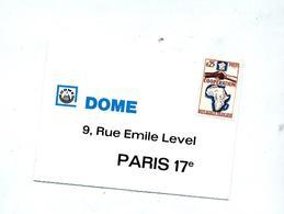 Carte Réponse Affranchie Dome - Marcophilie (Lettres)
