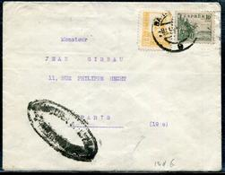 ESPAGNE - N°579 + 586 / LETTR DE SAN BARCELONA LE 9/2/1938 POUR PARIS AVEC CENSURE - B - 1931-50 Lettres