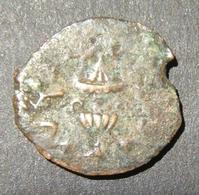 Judea Great Revolt/Jewish-Roman War Ancient Pruta Year 3 Coin, 68-69 CE; Hen-1363 - 1. Les Julio-Claudiens (-27 à 69)