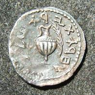 Ancient Judean Bar Kokhba Revolt Undated Zuz/silver Denarius Attributed To Year 3 - 1. Les Julio-Claudiens (-27 à 69)