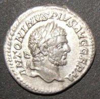 Ancient Roman Silver Denarius Coin Of Caracalla Augustus ANTONINVS PIVS AVG GERM - 1. Les Julio-Claudiens (-27 à 69)