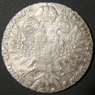 Austrian Maria Theresa Silver Thaler Restrike Var. Coin, 1780 S.F., No Rim Frame - Albanie