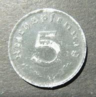 Germany 5 Pfennig 1947 A Zinc Allied Occupation Issue Coin, AU - Albanie